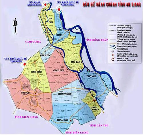 Bản đồ hành chính An Giang
